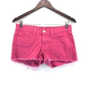 J Brand Fuchsia Denim Jean Cutoff Short Shorts